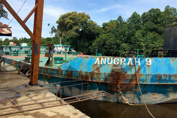 Bulking location survey station to West Kalimantan
